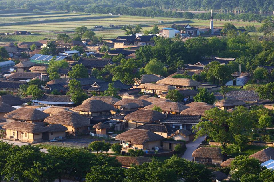 LE VILLAGE TRADITIONNEL HAHOE À ANDONG Corée du Sud