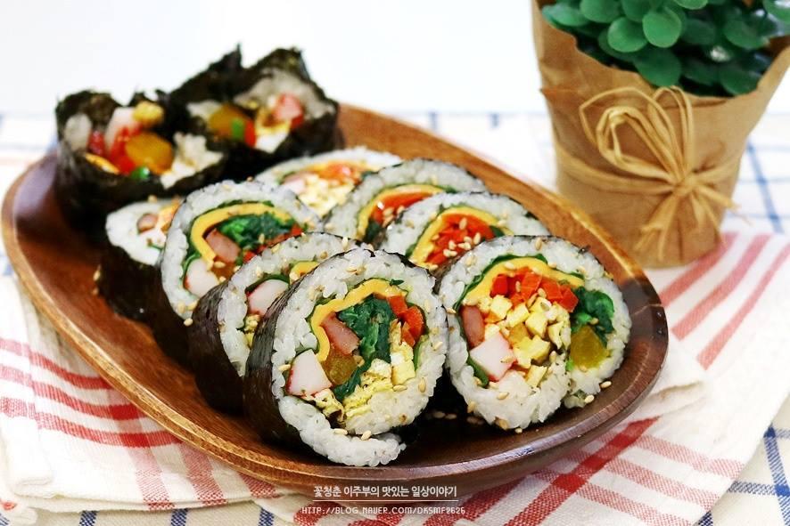 kimbap spécialité coréenne