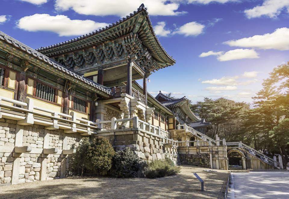 le temple Bulguksa Gyeongju Corée du Sud