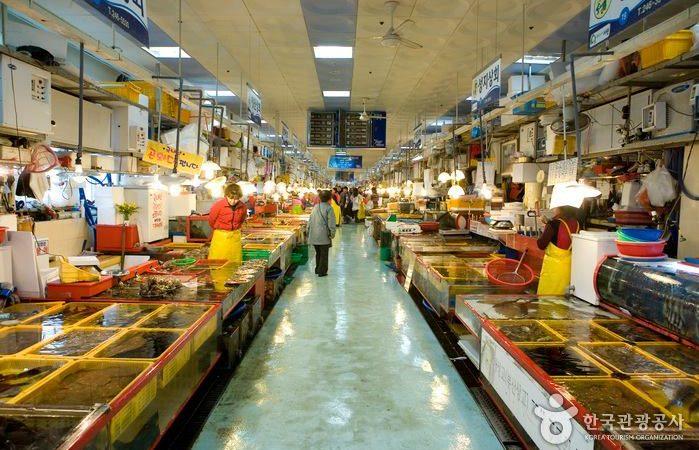 Le marché de jagalchi Busan Corée du Sud
