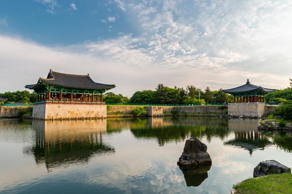 Pont anapji Gyeongju Corée du Sud
