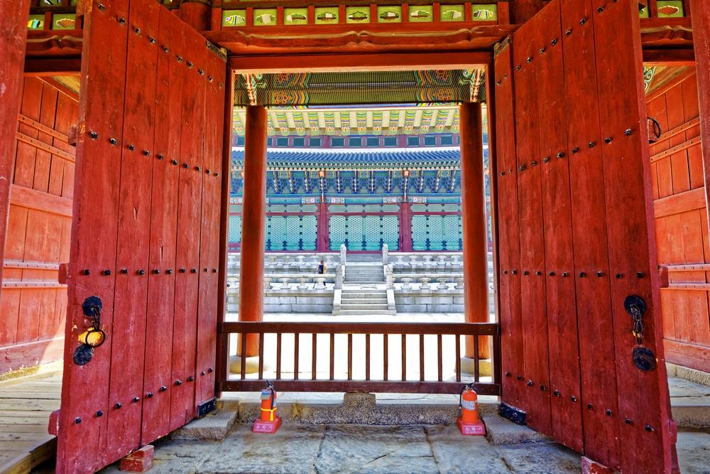 Porte anapji Gyeongju Corée du Sud