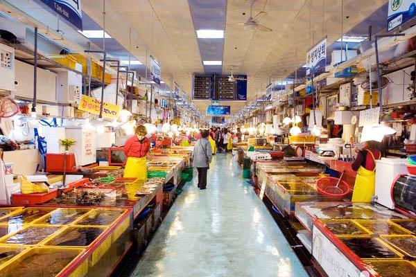 blog marché poisson corée du sud
