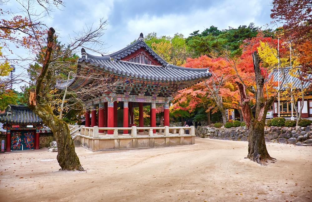 Temple Bulguksa Gyeongju Corée du Sud