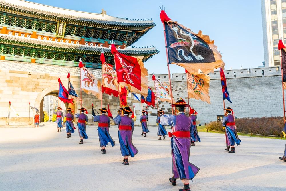 Garde de la porte de Namdaemun Corée du sud