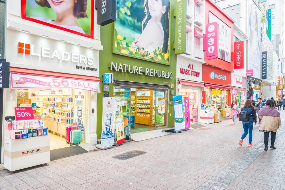 Myeongdong Séoul Corée du Sud