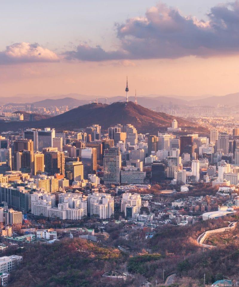 Vue de Séoul Corée du Sud