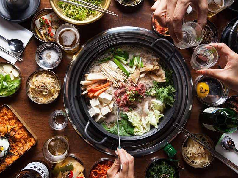 Restaurant barbecue coréen Séoul Corée du Sud