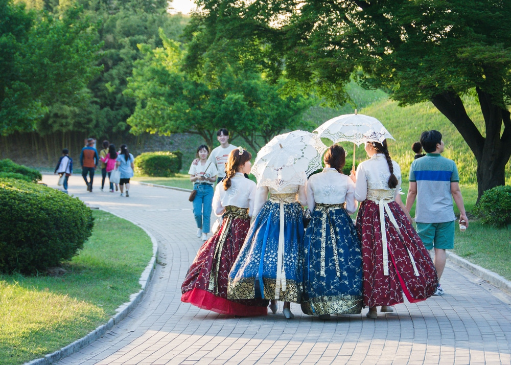 Hanbok traditionnel coreen Séoul Corée du Sud