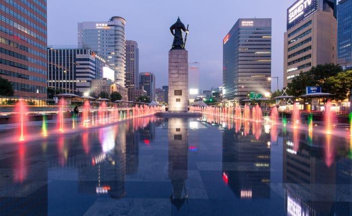 Place de Gwanghwamun Séoul Corée du Sud