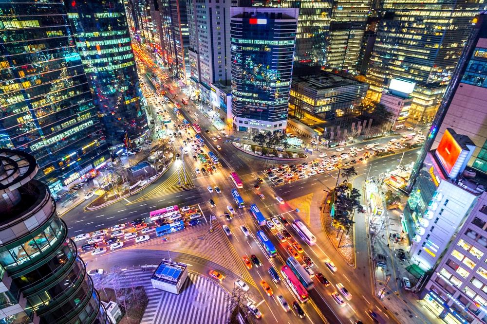 Quartier de Gangnam Séoul Corée du Sud