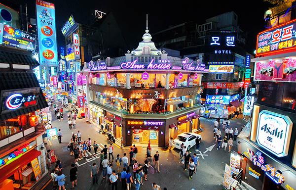 hongdae soiré séoul visite