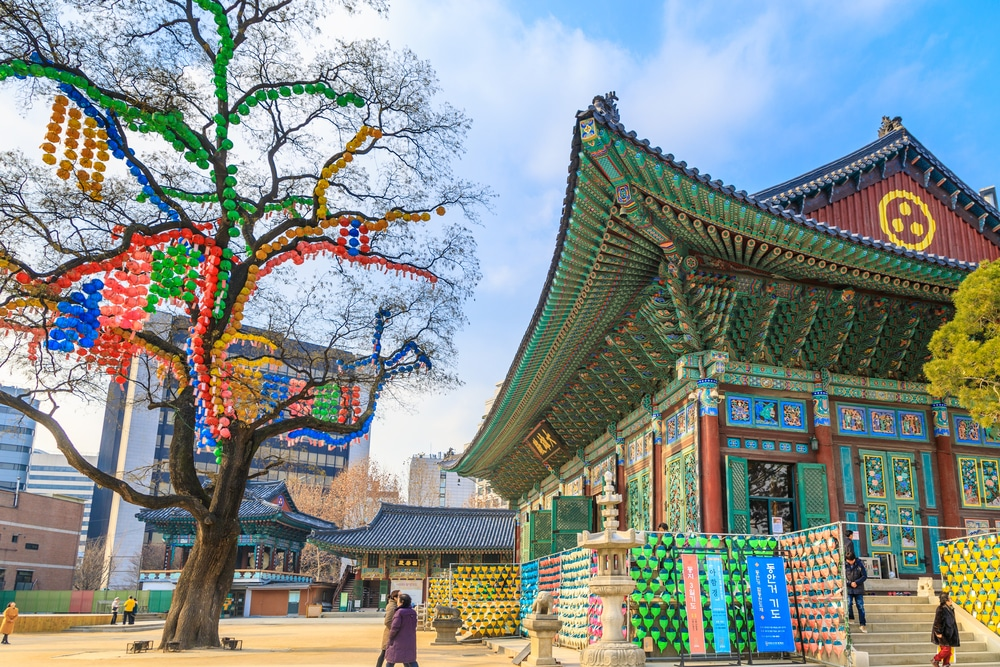 Temple Jogyesa Séoul Corée du Sud