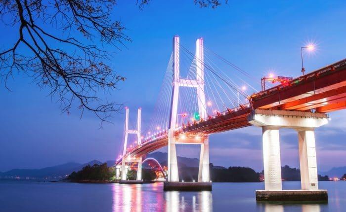 Pont de Namhae Corée du Sud