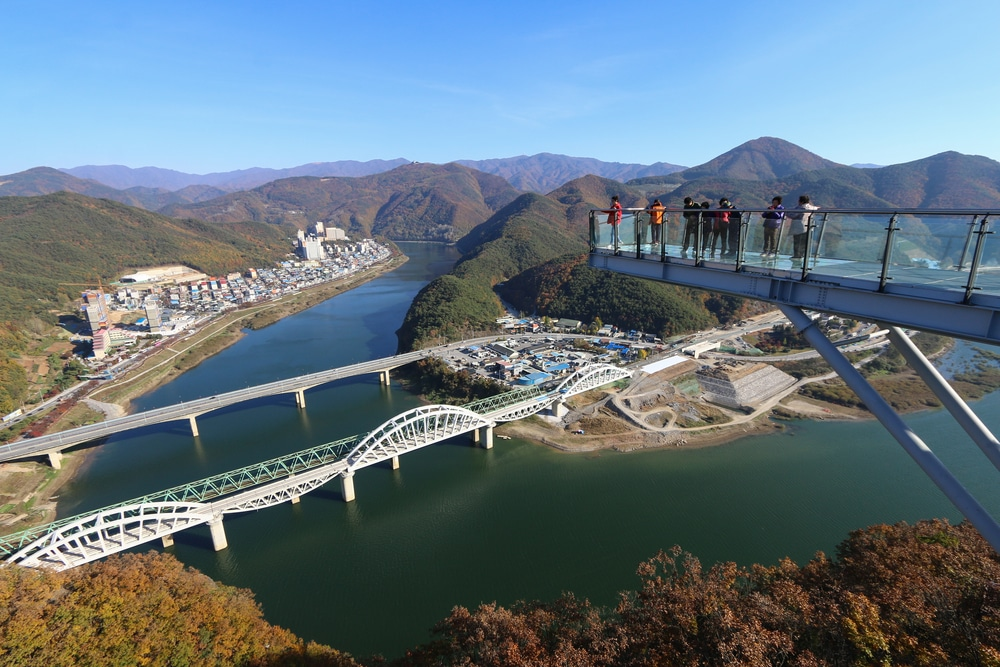 Skywalk Danyang Corée du Sud