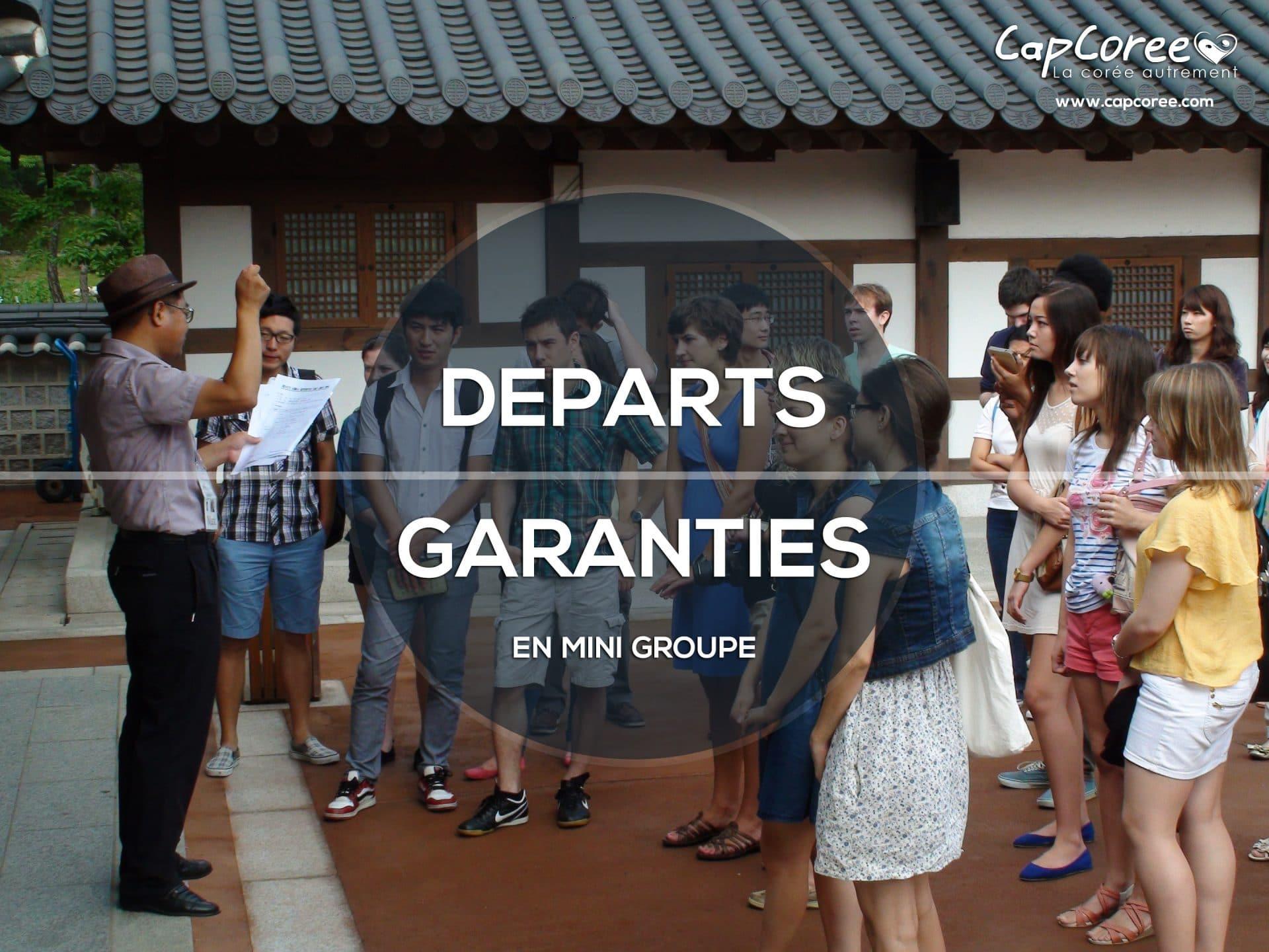 Circuits départs garanties en Corée du sud