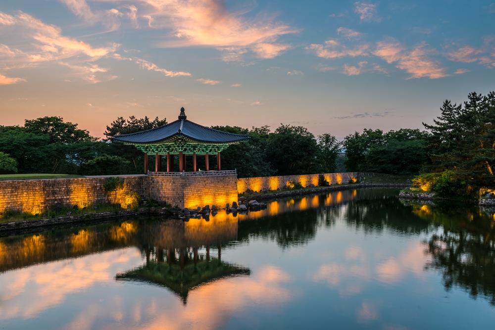 Anapji Pond Gyeongju Corée du Sud
