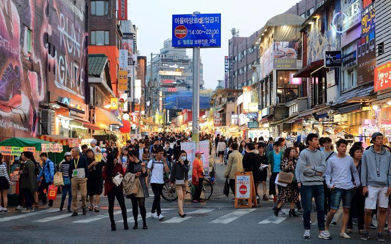 Hongdae Séoul Corée du Sud