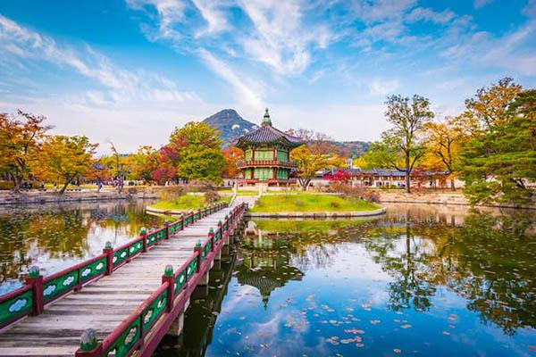 Gyeongbokgung palais séoul pavillion