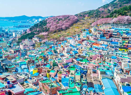 busan gamcheon village panorama