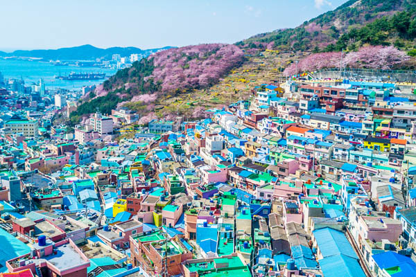 busan gamcheon village panorama