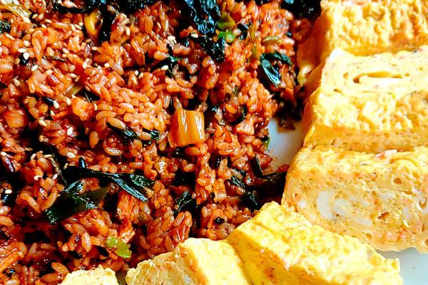 Kimchi riz frit