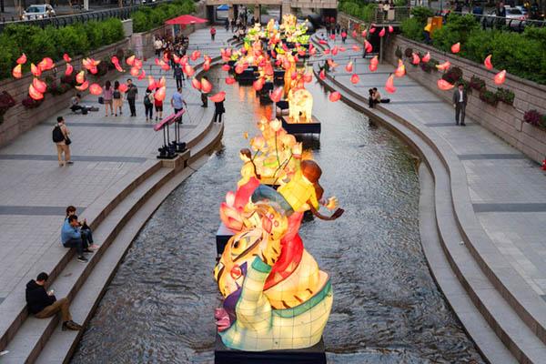 Lanternes festival Cheonggyecheon