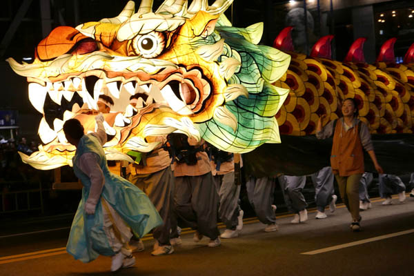 Lanternes festival dragon