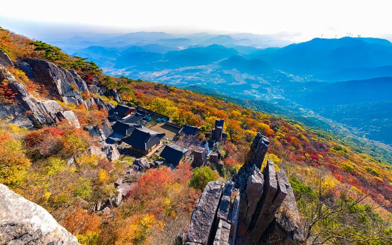 Gwangju montagne mudeungsan